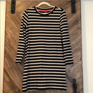 Lou & Grey Striped Long Sleeve Dress Small
